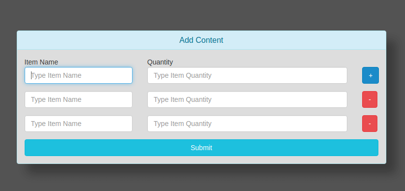 Add remove multiple input fields dynamically with jquery